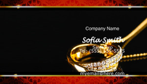 Jewelery Business Cards Template: 597309