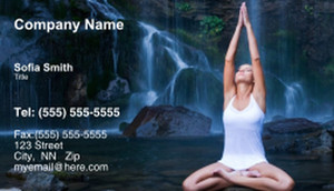 Yoga - Pilates - Meditation Business Cards Template: 333290