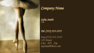 Dance & Choreography Business Cards Template: 334937
