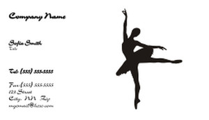 Dance & Choreography Business Cards Template: 334945