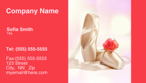 Dance & Choreography Business Cards Template: 334947