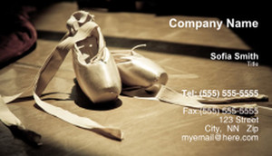 Dance & Choreography Business Cards Template: 334953