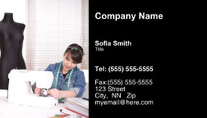 Button to customize design Seamstress Business Cards Template: 335179