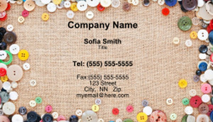 Seamstress Business Cards Template: 335182