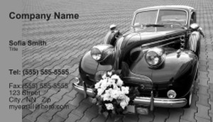 Limousine  Chauffeur Business Cards Template: 335458