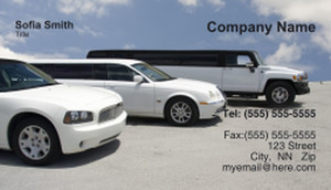 Limousine  Chauffeur Business Cards Template: 335464