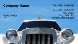 Limousine  Chauffeur Business Cards Template: 335465