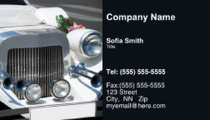 Limousine  Chauffeur Business Cards Template: 335466