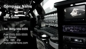 Limousine  Chauffeur Business Cards Template: 335446