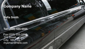 Limousine  Chauffeur Business Cards Template: 335449