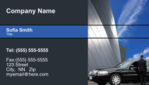 Limousine  Chauffeur Business Cards Template: 335452