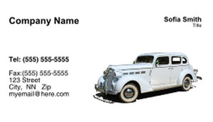 Limousine  Chauffeur Business Cards Template: 335456