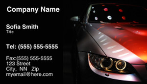 Cars Business Cards Template: 309932