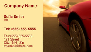 Cars Business Cards Template: 309833
