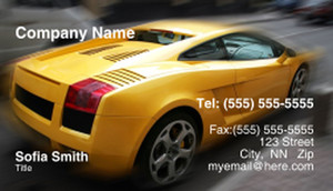 Cars Business Cards Template: 309848