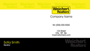 Button to customize design Weichert Business Cards Template: 500943