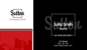 Sutton Business Cards Template: 500247