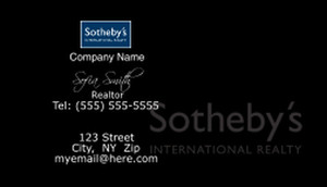 Sotheby Business Cards Template: 502073