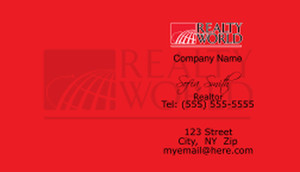 Realty World Business Cards Template: 528453
