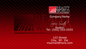 Realty World Business Cards Template: 528457