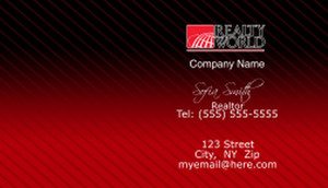 Realty World Business Cards Template: 528459