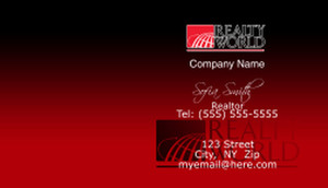 Realty World Business Cards Template: 528461