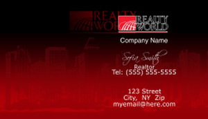 Realty World Business Cards Template: 528471