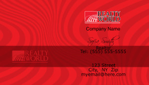Realty World Business Cards Template: 528433