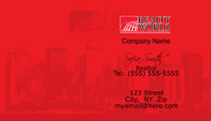 Realty World Business Cards Template: 528437