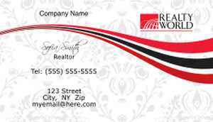 Realty World Business Cards Template: 526545