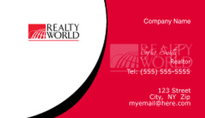 Realty World Business Cards Template: 526547