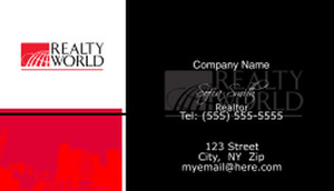 Realty World Business Cards Template: 526535
