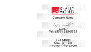 Realty World Business Cards Template: 526537