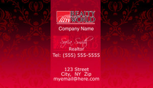 Realty World Business Cards Template: 526539