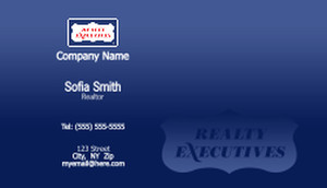 Realty Executive Business Cards Template: 503985