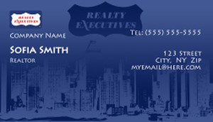 Realty Executive Business Cards Template: 503995