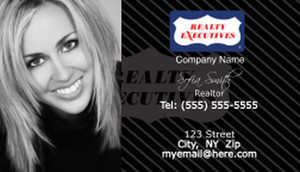 Realty Executive Business Cards Template: 504005
