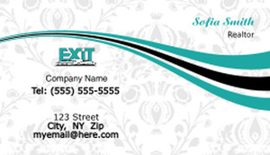 Exit Business Cards Template: 502291