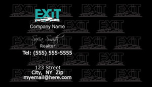 Exit Business Cards Template: 502261