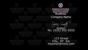Berkshire Hathaway Business Cards Template: 528579
