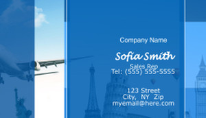 Travel Business Cards Template: 597729
