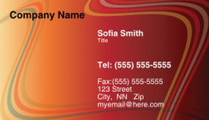 Lines / Curves Business Cards Template: 308487