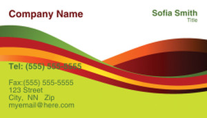 Lines / Curves Business Cards Template: 308500