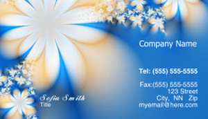 Floral Business Cards Template: 318693