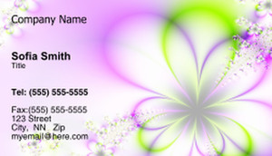 Floral Business Cards Template: 318694