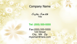 Floral Business Cards Template: 318679