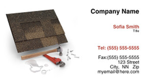 Roofing Business Cards Template: 335436