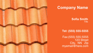 Roofing Business Cards Template: 335438