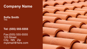 Roofing Business Cards Template: 335439