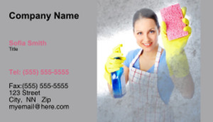 Cleaning Services Business Cards Template: 335192